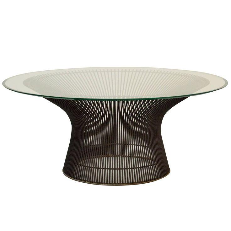 Warren Platner Bronze Coffee Table For Sale at 1stdibs