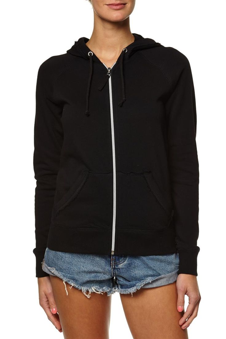 cut it out zip thru hoodie, BLACK