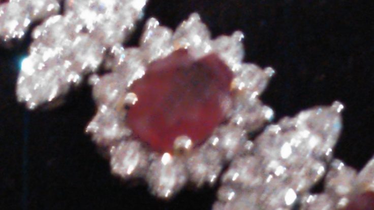 Rubies and diamonds, marquise and other shapes...