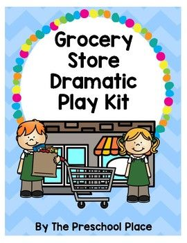This Preschool and Kindergarten grocery store dramatic play kit includes the following items to help you get your classroom supermarket started: *Play money (color & BW) *Credit Card (color & BW) *Check (Color & BW) *Blank shopping list *Shopping list with words *Shopping list with words and pictures *Food group/aisle signs *Food flashcards *Hours of operation sign *Open/closed signs *Sale signs *Sheet of coupons to cut *Price tags *Labels for