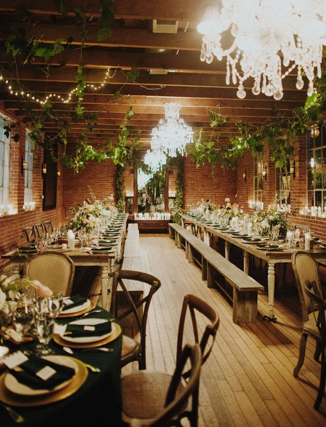 romantic ivy ceiling garlands
