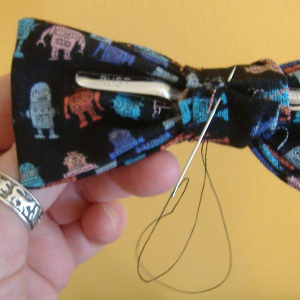 how to make a clip-on bow tie