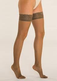 calza: prenda de vestir que cubre el muslo y la pierna