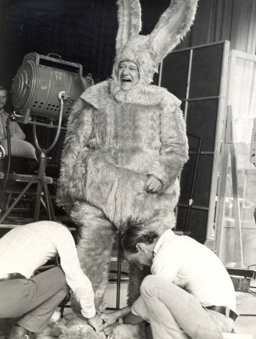 Very rare image of John Wayne in the bunny suit! #johnwayne #duke