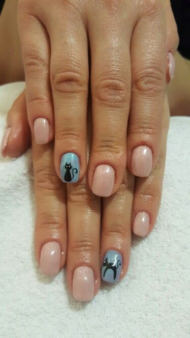 Nails cats nude