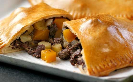 Perfect Cornish pasties  from episode five of The Great British Bake Off, features short, golden pastry and a traditional beef, potato and swede filling