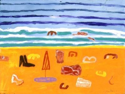 Ken Done, Artist beach and ripples