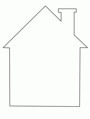 House Coloring Page cut out shapes for windows/door etc.... for children to paste into place.