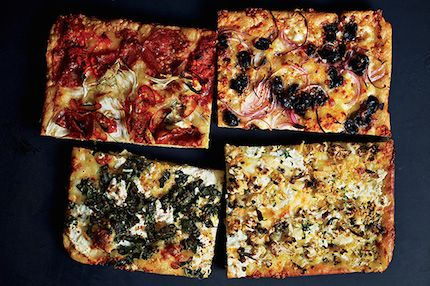 Epilog (epicurious) says The only pizza worth making at home is baked in a sheet pat. Also called Grandmas pizza.