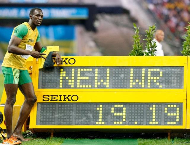Usain Bolt wereldrecord 100 meter, wereldkempioenschap Berlijn (2009)