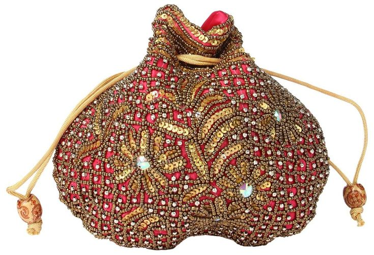 A grand potli bag made with fully grand works www.shopzters.com