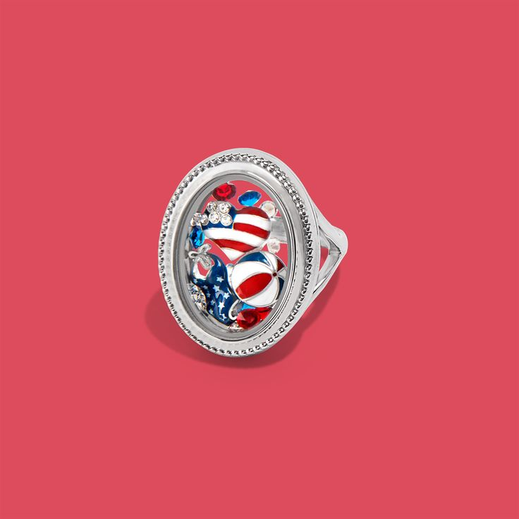 Origami Owl Summer collection 2017 Origami Owl Ring Origami Owl 4th of July Locket Ideas Origami Owl Red White and Blue Origami Owl Charms for summer Origami Owl Military Email kristy@foreversparkly.com for a free gift!