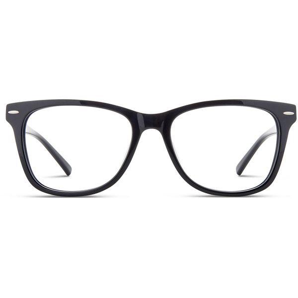 GlassesUSA Cabot Black ($78) ❤ liked on Polyvore featuring accessories, eyewear, black, sport glasses, nose pads glasses, sports glasses, rimmed glasses and sports eyewear