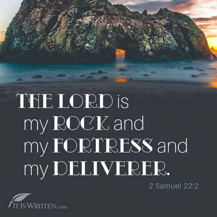 2 Samuel 22:2 Put on rock