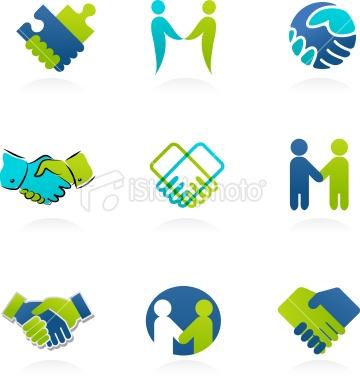 Handshake icons Royalty Free Stock Vector Art Illustration