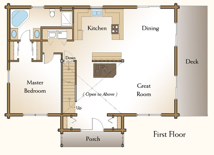 34 best images about dream home floor plans on pinterest for 5 bedroom log home floor plans
