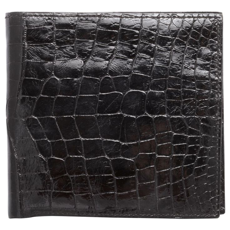Vintage Hermes Glossy Black Alligator Wallet | From a unique collection of antique and modern miscellaneous jewelry at http://www.1stdibs.com/furniture/more-furniture-collectibles/miscellaneous-jewelry/