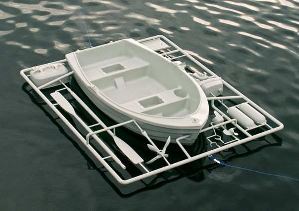 Need a New Boat? Just Break Out the Parts and Build it with a Life-Sized Assemble Kit