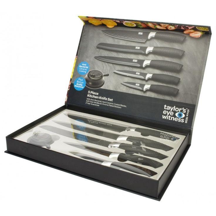 Σετ 5 #Μαχαιριών κεραμικής επίστρωσης - #LMS21BS4 - Taylors Eye Witness Δώρο η ξύστρα μαχαιριών!!!