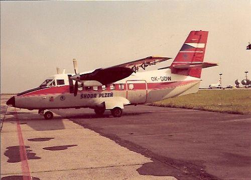 Škoda Plzeň. Po zrušení provozu L-410A u ČSA projevila Škodovka zájem o nákup dvou letounů tohoto typu. Současně bylo rozhodnuto o zřízení oddělení letecké dopravy v počtu 10 až 12 pracovníků. První L-410A poznávací značky OK-DDW byla převzata v létě 1981