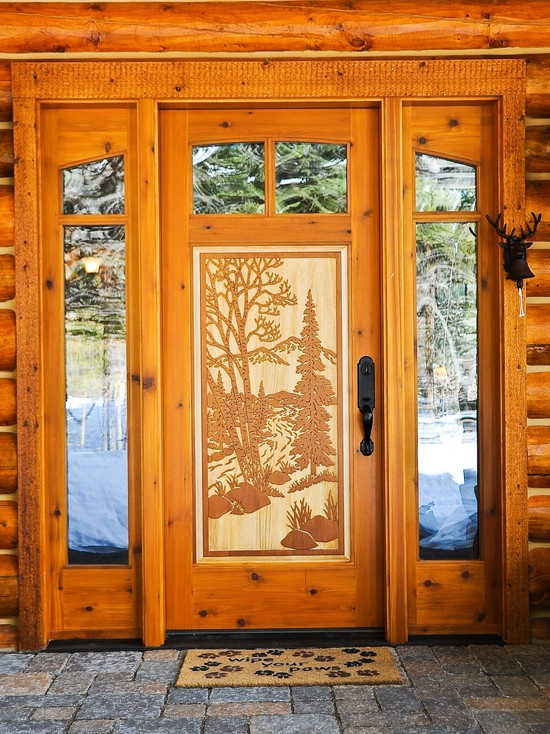Scintillating Log Home Front Doors Contemporary - Image design house ...