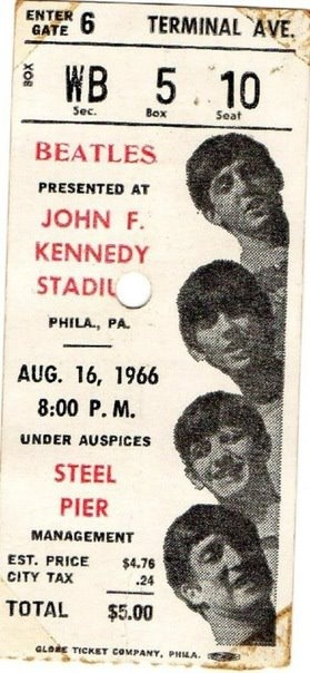 Beatles Concert Ticket...Kay, Mary Ellen and Evelyn.