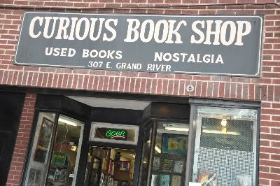 Curious Book Shop, 307 E. Grand River Ave., East Lansing, MI. Curious Books is a used bookstore on Grand River Ave, right across the street from the campus of Michigan State University.