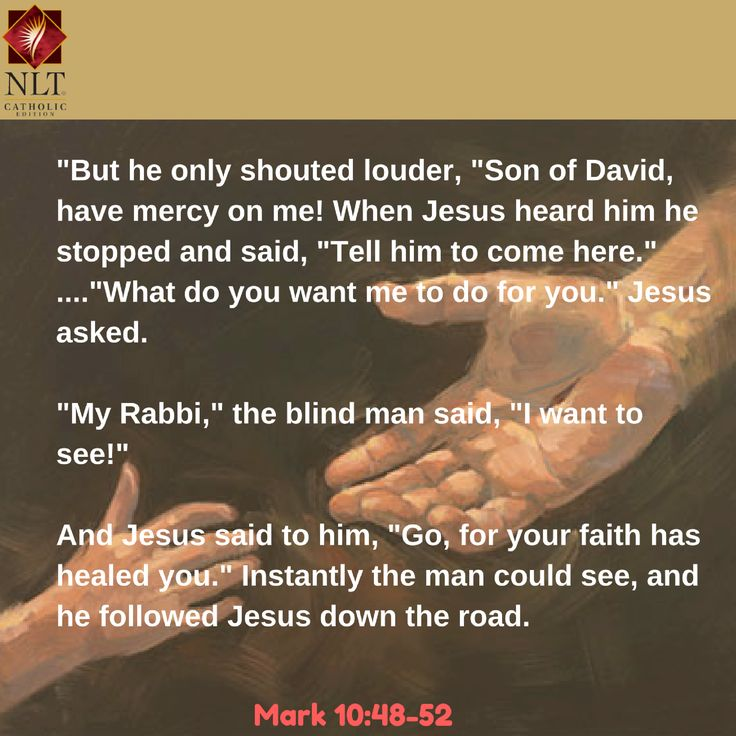 Are you ready to shout out loud for your miracle? Don't let others dissuade or deter you. Jesus will hear you and He will heal you