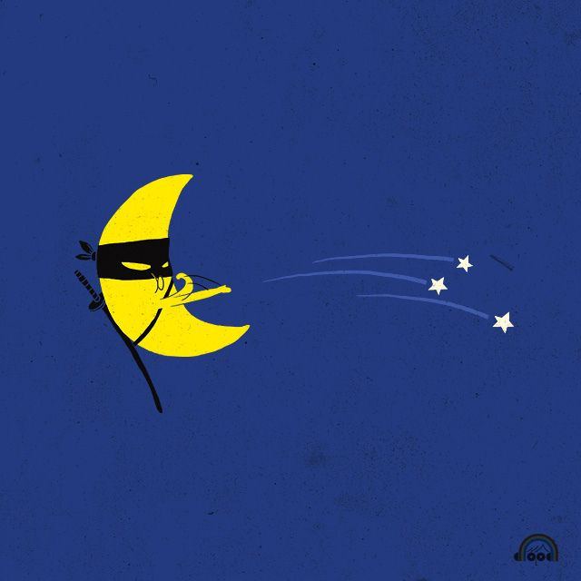 Day 33: Ninja Moon by ILoveDoodle, via Flickr