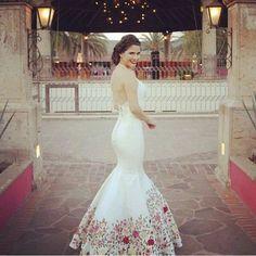 Mexican Style bride wedding - vestido de novia mexicana