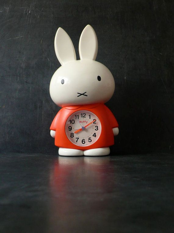 Vintage 13 inch Miffy Clock Japanese talking by lamanastronaut, $165.00