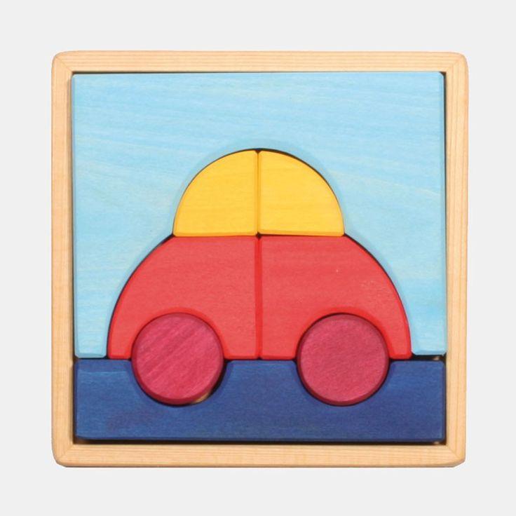 holzpuzzle f r kleinkinder legespiel auto von grimm 39 s bei echtkind findest du eine sch ne. Black Bedroom Furniture Sets. Home Design Ideas