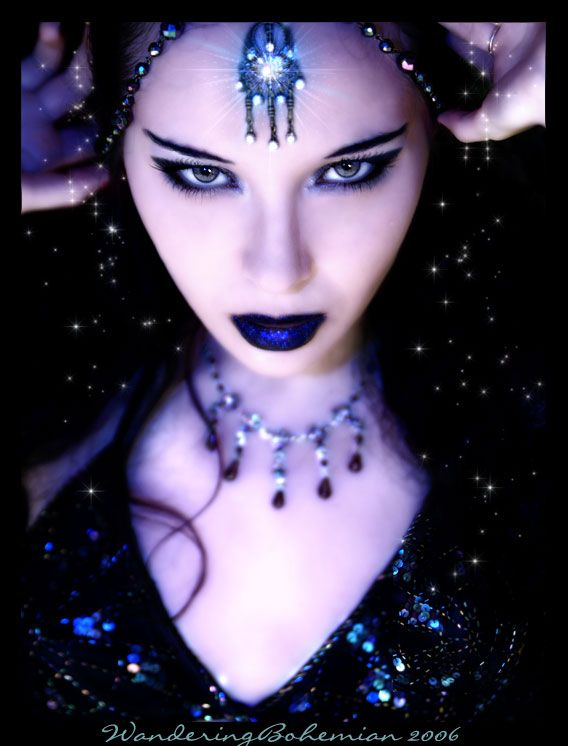 Nyx: the goddess of night, arrives in a cloak of shadow ...