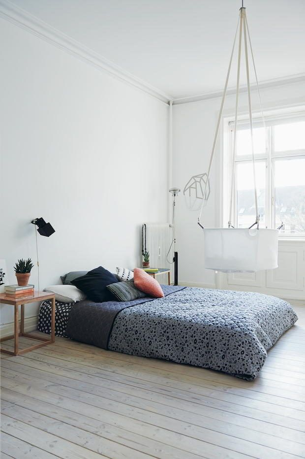 Designer Kristina Dam's bedroom. Photo taken from Chic Boutiquers at Home by Ellie Tennant, photography by James Gardiner, published by Ryland Peters & Small.