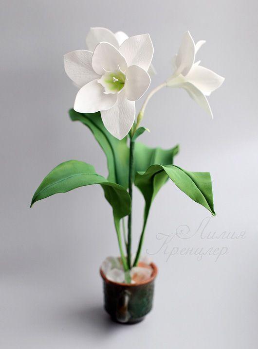 фоамиран, эухарис, амазонская лилия, цветы из фоамирана, мастер-класс…