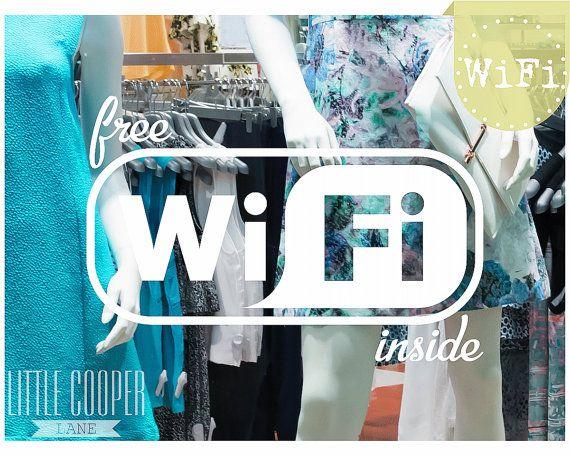 Free Wifi Inside Decal 3 Sizes  Free WiFi by LittleCooperLane