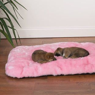 PINK FLUFFY CLOUD DOG BED - BD Luxe Dogs & Supplies