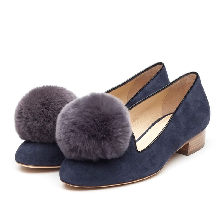 Pom pom loafers flats pinterest pom poms loafers and blue suede
