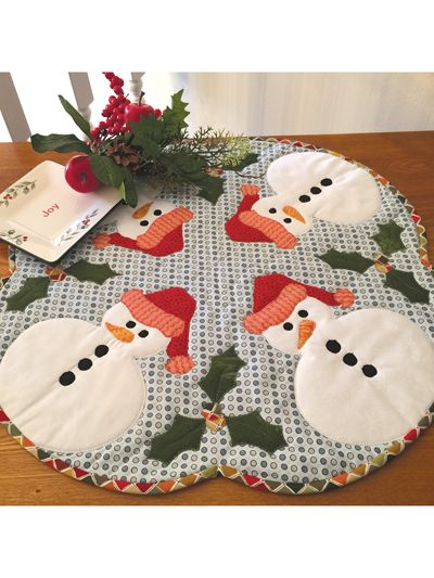 Snowbuddies Table Topper Pattern from Annie's Craft Store. Order here: https://www.anniescatalog.com/detail.html?prod_id=134297&cat_id=1644