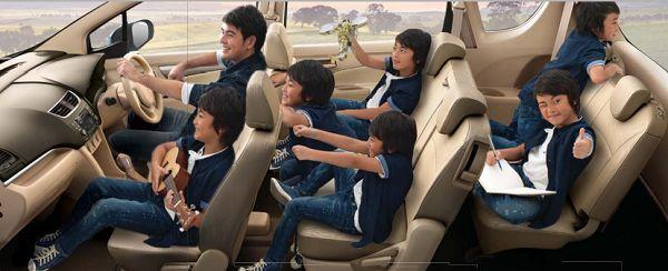 ภายนในกว้างขวาง Suzuki Ertiga