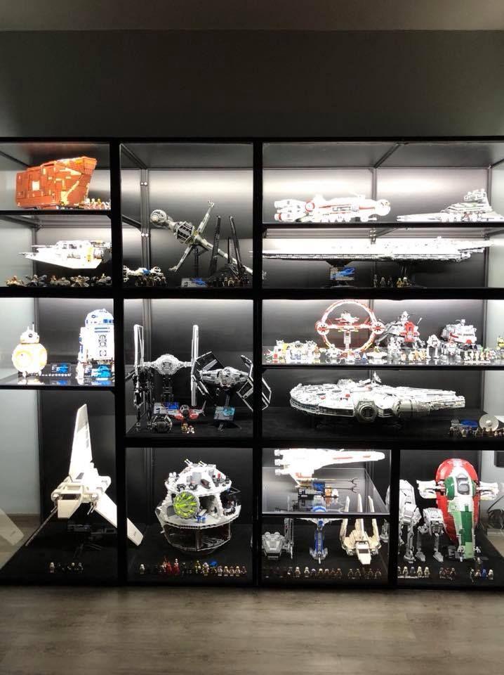 Display Ideas For Lego 75192 Ucs Millennium Falcon Candidbricks Star Wars Collection Display Lego Display Case Star Wars Room