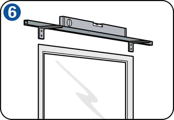 Hanging a curtain rail - Mounting the rail brackets against the window frame or wall