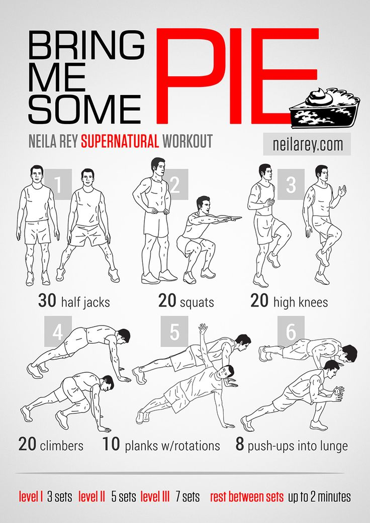 Bring Me Some Pie Supernatural Workout