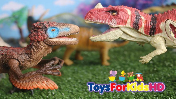 Dinosaurios para niños Ceratosaurio v/s UtahraptorDinosaurios de Juguetes/Dinosaurios carnívoros
