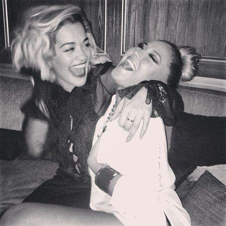 rita ora parties with rob kardashian's ex-girlfriend adrienne bailon