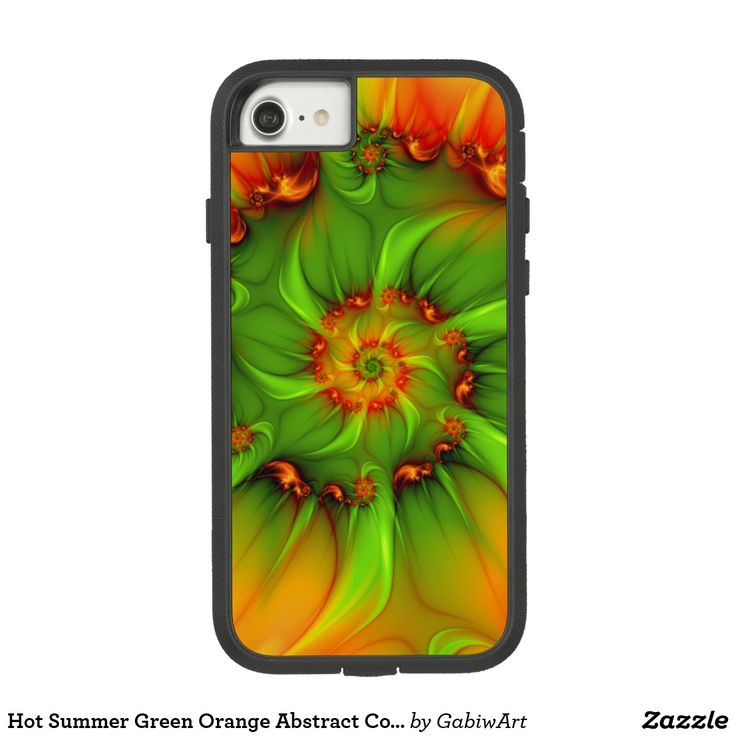 Hot Summer Green Orange Abstract Colorful Fractal Case-Mate Tough Extreme iPhone 8/7 Case
