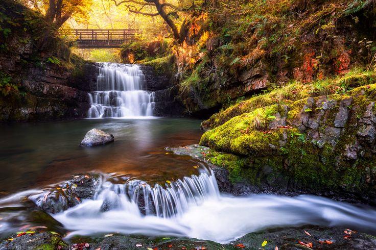 Sgydau Sychryd Waterfall, Pontneddfechan, Brecon Beacons, Wales by Joe Daniel Price on 500px
