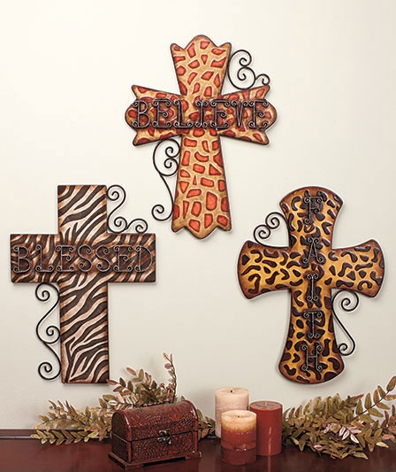 Animal Print cross, can go anywhere in the house