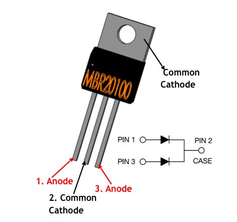 MBR20100CT Pinout (With images)   Electrical projects ...