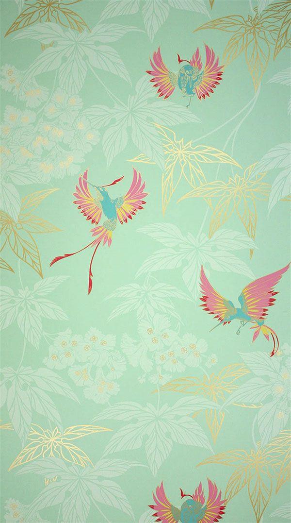 Die 25+ Besten Ideen Zu Chinoiserie Tapete Auf Pinterest ... Deko Tapete Grn
